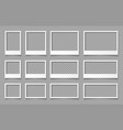 white empty photo frames templates for photo vector image vector image