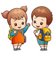 going to school vector image