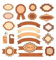 Set of labels and tapes vector image