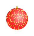 christmas toy with pattern vector image