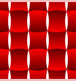 3d curve tile seamless pattern red 002 vector image vector image
