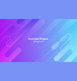 abstract blue and purple rounded shapes background vector image