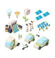 alternative energy set solar panels green vector image vector image