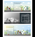 Architecture background Cityscape banner 4 vector image