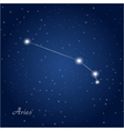 Aries constellation zodiac vector image vector image