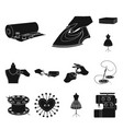 atelier and equipment black icons in set vector image vector image