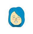 avatar woman head with hairstyle design vector image vector image
