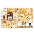 bakery pastries bread cake baker sweet dessert vector image vector image