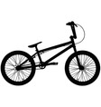 BMX silhouette vector image vector image