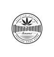 cannabis marijuana emblem logo vector image