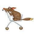 cartoon character dog vector image vector image