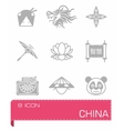 China icon set vector image vector image