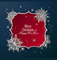 christmas card decorated with shiny snowflakes vector image