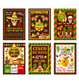 cinco de mayo mexican fiesta party banner design vector image vector image