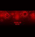 coronavirus covid19-19 pandemic outbreak red vector image vector image