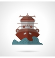 Cruise ship flat color icon vector image vector image