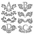 design ornamental elements and monograms set vector image vector image