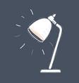 desk lamp light on dark background vector image vector image
