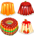 Dessert Jelly Pudding vector image vector image