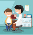 doctor performing physical examination vector image vector image