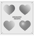 Engraved hearts vector image