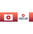 first aid medical banner health care vector image