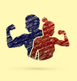 fitness man and woman healthy human vector image vector image