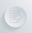 flat circle icon with a shadow sheet of paper vector image