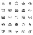 Franchisee business line icons on white background vector image vector image