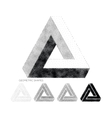 geometric abstract 3D Triangles vector image