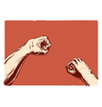 Gestures topic fist vector image vector image