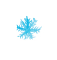 Handwritten watercolor snowflake vector image vector image
