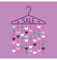 Hanger with heart garland Sale banner vector image vector image