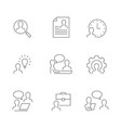 head hunting line icons on white background vector image vector image
