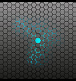 hexagonal tile background vector image