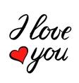 I love you brush lettering