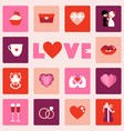 icon of love symbol for valentine day vector image vector image