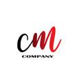 initial letter cm linked design logo vector image