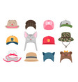 kids hats vector image