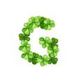 letter g clover ornament vector image