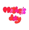 Lettering Mothers Day cartoon icon vector image vector image
