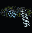 london tube text background word cloud concept vector image vector image