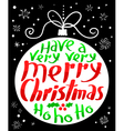 Merry Christmas lettering in decoration ball vector image vector image