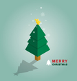 Merry Christmas tree isometric vector image vector image