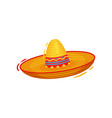 mexican sombrero on white background