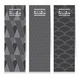 Modern Design Set Of Three Graphic Vertical Banner vector image vector image