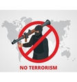 No terrorism Stop terror sign anti terrorism vector image vector image