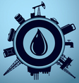 Oil industry lable vector image vector image