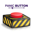 panic button red alarm shiny button icon vector image vector image