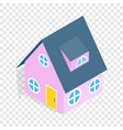 pink house isometric icon vector image vector image